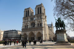 Catedral de Notre Dame em Paris, France Fotografia de Stock Royalty Free