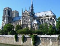 Catedral de Notre Dame em Paris, France Fotografia de Stock Royalty Free