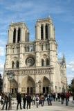 Catedral de Notre Dame, en París Imagen de archivo libre de regalías