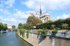 Catedral de Notre Dame en París, Francia Fotografía de archivo libre de regalías