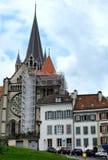 Catedral de Notre Dame Lausanne Fotografía de archivo libre de regalías