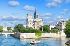 Catedral de Notre Dame, Paris France Imagem de Stock Royalty Free