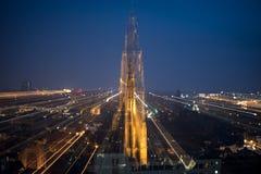Catedral de nuestra señora en la noche Fotografía de archivo