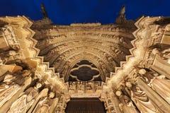 Catedral de nuestra señora de Reims fotografía de archivo