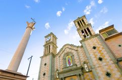 Catedral de Nuestra Senora de Guadalupe, Tijuana, Mexico royaltyfri foto