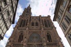 Catedral de nuestra señora Estrasburgo, Francia Imagen de archivo libre de regalías