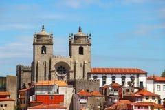 Catedral de Oporto, Portugal Foto de archivo libre de regalías