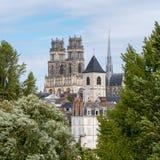 Catedral de Orléans, una ciudad en el centro Francia fotos de archivo libres de regalías
