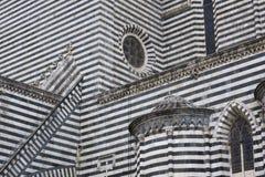 Catedral de Orvieto com listras preto e branco fotografia de stock