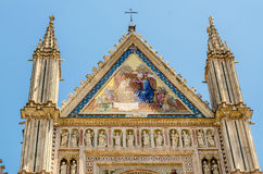 Catedral de Orvieto, top de la fachada, Italia Fotografía de archivo libre de regalías