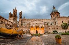 A catedral de Palermo, Sicília Fotos de Stock Royalty Free