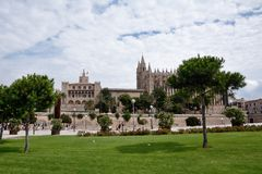 Catedral de Palma de Majorca Imágenes de archivo libres de regalías