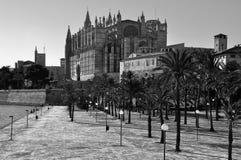 Catedral de Palma de Mallorca, Espanha imagem de stock royalty free