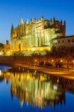 Catedral de Palma de Mallorca Majorca church Cathedral twilight. Portrait format Spain travel traveling tourism Stock Images