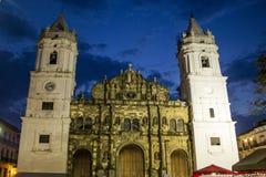 Catedral de Panamá Imágenes de archivo libres de regalías