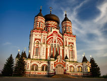 Catedral de Pantaleon de Saint em Kiev no crepúsculo Foto de Stock Royalty Free