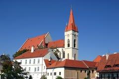 Catedral de Papai Noel - Znojmo Foto de Stock