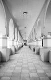 Catedral de Pasillo en blanco y negro Fotografía de archivo libre de regalías