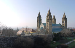 Catedral de Pech (Pesc) en Hungría Fotos de archivo