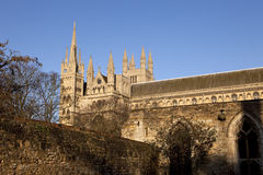 Catedral de Peterborough Foto de Stock Royalty Free