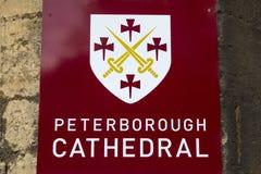Catedral de Peterborough em Peterborough imagens de stock