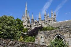 Catedral de Peterborough en el Reino Unido foto de archivo libre de regalías