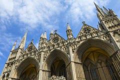 Catedral de Peterborough en el Reino Unido imagenes de archivo