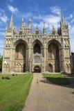 Catedral de Peterborough en el Reino Unido fotografía de archivo libre de regalías