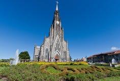 Catedral de piedra de Canela el Brasil imagen de archivo
