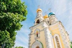 Catedral de Pokrovsky em Vladivostok, Rússia fotos de stock royalty free