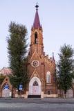 Catedral de Polonia en Irkutsk, Federación Rusa Foto de archivo libre de regalías