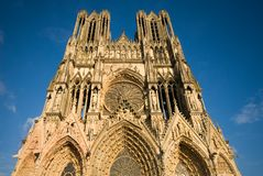 Catedral de Reims Fotos de archivo