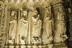 Catedral de Reims Foto de archivo libre de regalías