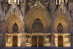 Catedral de Reims Fotografia de Stock Royalty Free