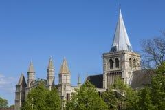 Catedral de Rochester en Kent Foto de archivo libre de regalías