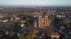 Catedral de Roskilde de reyes fotografía de archivo