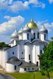 Catedral de Sófia em Novgorod. imagens de stock royalty free