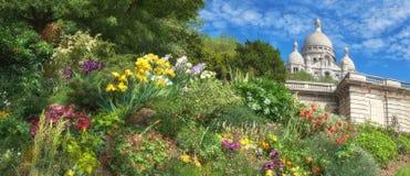 Catedral de Sacre Coeur em Paris, França, imaage panorâmico Foto de Stock