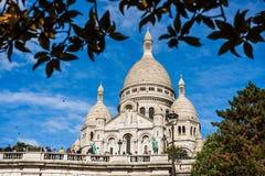 Catedral de Sacre Coeur no monte de Montmartre em Paris, França fotos de stock royalty free