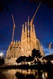 Catedral de Sagrada Familia em Barcelona, Espanha Fotos de Stock