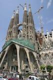 Catedral de Sagrada Familia en Barcelona (España) Imagen de archivo libre de regalías