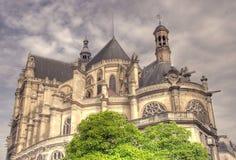 Catedral de Saint-Eustache imagem de stock