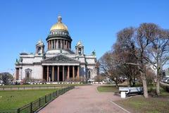 Catedral de Saint Isaak em St Petersburg Fotografia de Stock Royalty Free