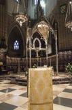 Catedral de Saint Mary real em Pamplona imagens de stock royalty free