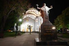 Catedral de Saint Sava imagem de stock royalty free