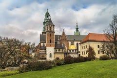Catedral de Saint Stanislaus e Vaclav em Krakow Imagem de Stock Royalty Free
