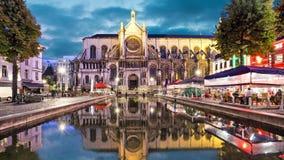 Catedral de Sainte Catherine en Bruselas metrajes