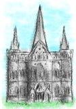 Catedral de Salisbúria ilustração royalty free