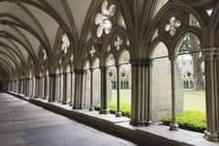 Catedral de Salisbúria do claustro fotografia de stock royalty free