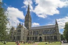 Catedral de Salisbury Imagen de archivo libre de regalías